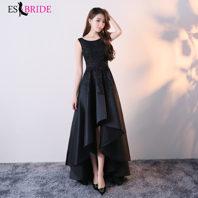 Long Vestido De Noche Con Cristal Evening Dresses Black Party Special Occasion Dresses New Arrival Evening Dress 2019 ES2466