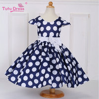 Hot Sale Super Flower Girls Dresses For Party And Wedding Dot Print Princess Kids Dress Fashion