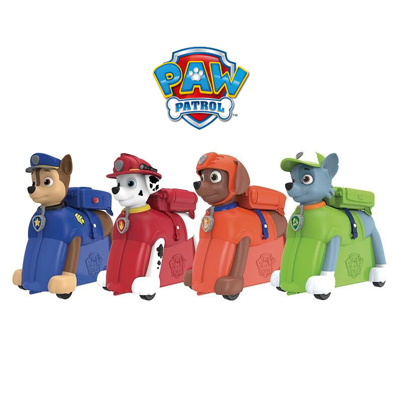 Véritable pat' patrouille équitation boîte Le coffre peut s'asseoir et faites glisser Valise enfants sac à dos sac à dos chasser marshall rocheux zuma enfants jouet