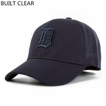 (BUILT CLEAR) Free Shipping High Quality Spandex Elastic Outdoor Baseball Cap Shade Male Hat, snapback Men & Women Fully Closed