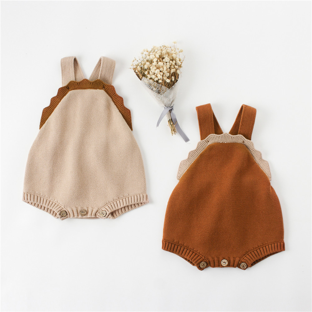 Autumn baby boys girls woolen yarn cute sleeveless rompers 2019 cute kids casual jumpsuits clothes