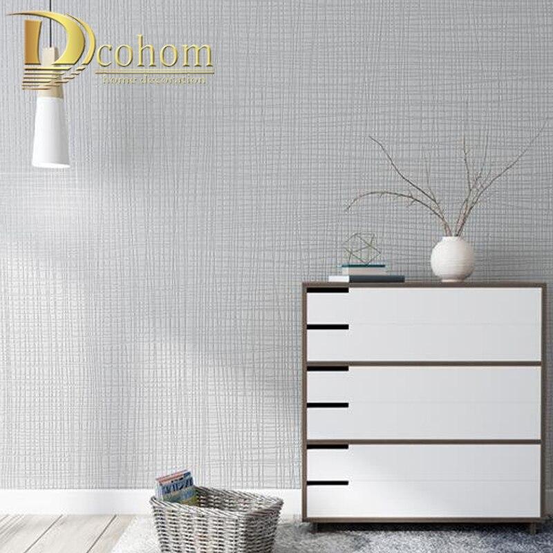 Grasscloth Effect Plain Textured Room Wallpaper Roll Modern Simple