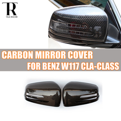 C117 W117 z włókna węglowego zastąpiony styl widok z tyłu osłona na lusterko boczne Cap dla Benz C117 CLA180 CLA200 CLA250 CLA45 AMG 2013-2019