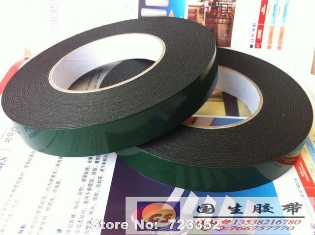 Attractive PE wall hook special foam double sided adhesive tape green film  TJ32