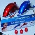 Venda quente Pequenos Golfinhos Triplo USB Massageador Elétrico Pescoço Massagem Da Vibração do Martelo Golfinho Massagem Vara Handheld