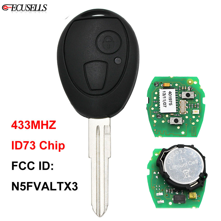 2 Button OEM Remote Key Smart Car Key Fob 433Mhz ID73 Chip FCC ID N5FVALTX3 for