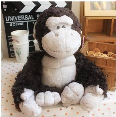 25cm.35cm.50cm.80cm king kong gorilla plush monkey toy,Soft big stuffed animal monkey dolls toy for gift free shipping stuffed animal toy monkey doll simulation silver back gorilla dolls plush toys for children