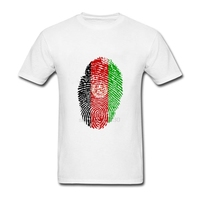Afghanistan Flag Fingerprint Short Sleeved Clothes Youth Crew Neck Hot T Shirt Plus Size 3d Printed