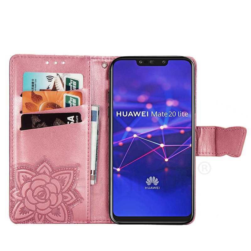 Кожаный чехол-книжка с 3D бабочкой для huawei P30 P20 Lite P Smart Z Y6 Y7 2019 Y9 Y5 Prime 2018 Honor 10 8A 8S mate 20 Pro