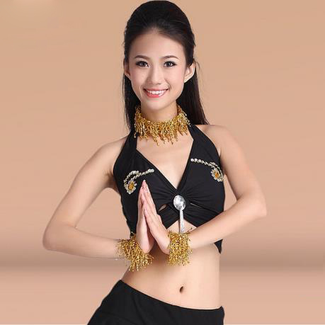 New Arrival Crystal Cotton Belly Dance Top Momen Sleeveless  Belly Dance Tops 9 Colors Sexy Stones Tops