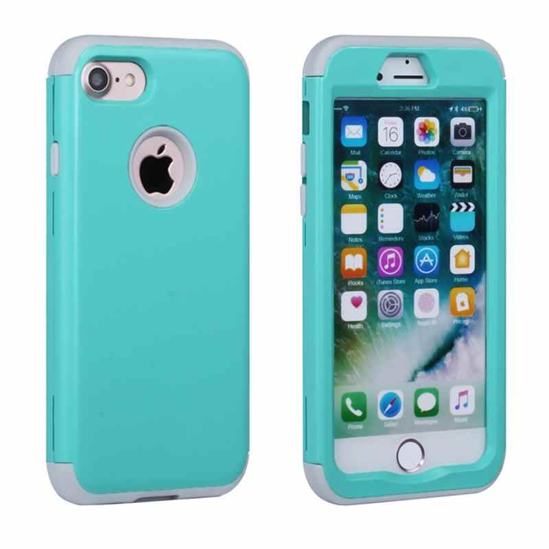 the latest 138a6 39b8c For Apple iPhone 7 Case 7 Plus Silicone & Plastic Hard Cover iPhone 7 Plus  Phone Case With Rubber TPU Coque For iPhone7 Plus