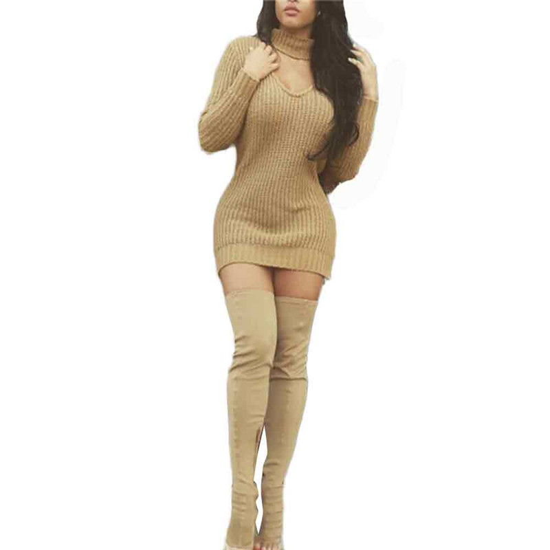 #3533 Newly design Fashion Women with Scarf Long Sleeve Knit Dress Sweater Knitting Loose Casual Pullover
