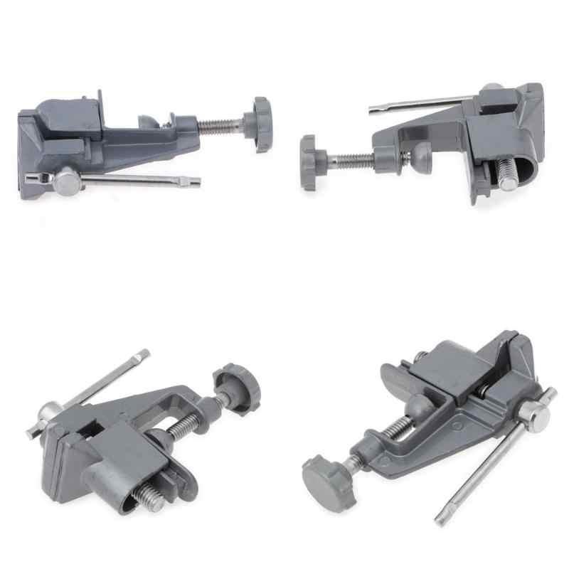 Universal Mini 30mm Metal Tabela Vice Braçadeira Banco Screw Torno de bancada para DIY Ofício Furadeira Elétrica Repair Fixo Ferramenta Fábrica peças pequenas
