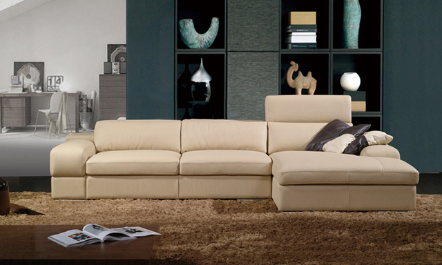 Free Shipping 2013 Latest House Designs Moden Leather Sofa Classic  Furniture With Mini Corner Sofa Couch