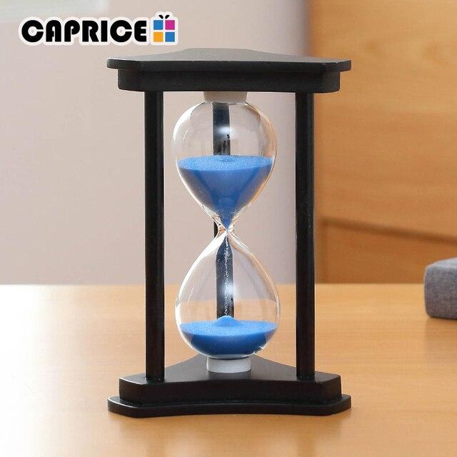 65251cbffbd Ampulheta 30 Minutos Contagem Regressiva Temporizador da Areia de Madeira  Relógio de Cronometragem Mesa de Decoração