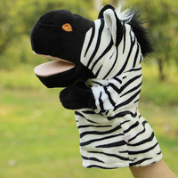 Puppets toys for children plush zebra doll toy hand puppet puzzle gifts telling performance props