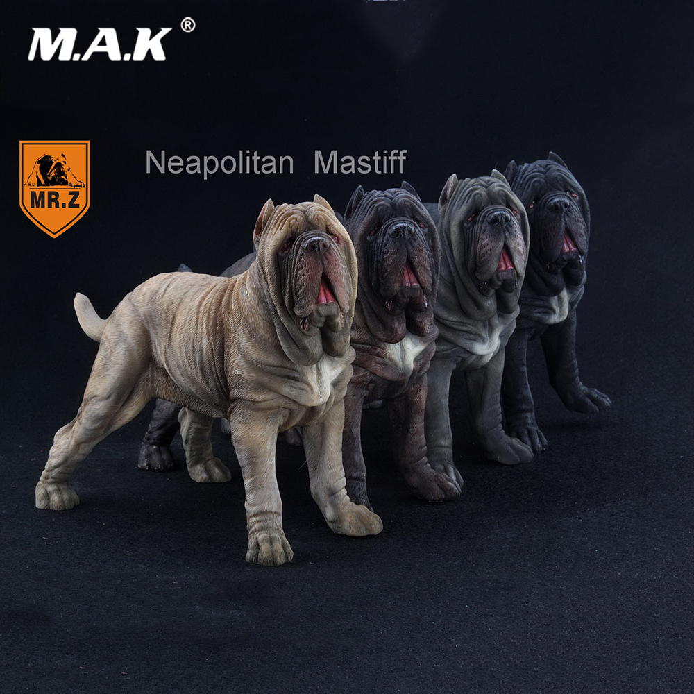 Mr.Z 1/6 Scale Neapolitan Mastiff Dog Animal Statue Model Toy 4 Colors for 12 inches Action Figure Scene Accessory 1 6 scale scene annex mr z neapolitan mastiff 001 black dog collar set tabby animal model fit 12 inch action figure doll toys