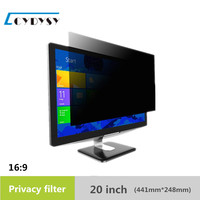 20 Inch Computer Privacy Screen Protector Anti Glare Film Privacy Filter For 16 10 Widescreen Monitor