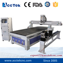 Wood table processing cnc router usb wardrobe making 4 axis cnc machine 1325 1330 with big rotary