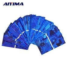 AIYIMA 0.5V 0.45A Solar Panel Polycrystalline Silicon Solar Cells Solar Module DIY Solar Sunpower Charger Power 52*26mm 100pcs