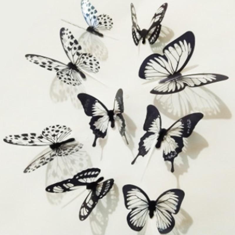 Butterfly 3D Wall Decals Removable Sticker Wedding Nursery Decor Home Office restaurant mall Art