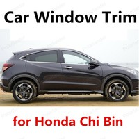 Car Exterior Accessories bright silver stainless steel Car Window Trim Cover For Honda Chi Bin Car Styling