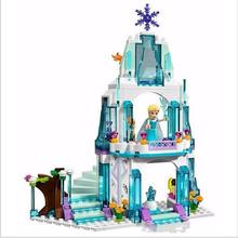 SY373 Cinderella s Romantic Castle Anna Elsa figures Building Blocks Educational Brick Toys For Girls with