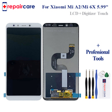 For Xiaomi Mi A2 MIA2 LCD Display Digitizer Touch Screen Assembly for Xiaomi Mi 6X MI6X Replacement Repair Parts White 5.99 inch недорго, оригинальная цена