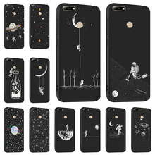 Ojeleye Fashion Black Silicon Case For Huawei Honor 7c Pro Cases Anti-knock Phone Cover Nova 2 Lite Y7 2018 Covers