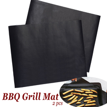 2pcs/lot Ptfe BBQ Grill Mat 30*40cm non-stick Reusable Mats Sheet Foil Liner Barbecue Tools