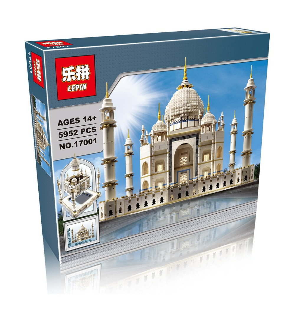 New LEPIN 17001 5952pcs The Tai Mahal Model Building Kits  Brick Toys Compatible  10189 Give children the best gift lepin17001 city street tai mahal model building blocks kids brick toys children christmas gift compatible 10189 educational toys