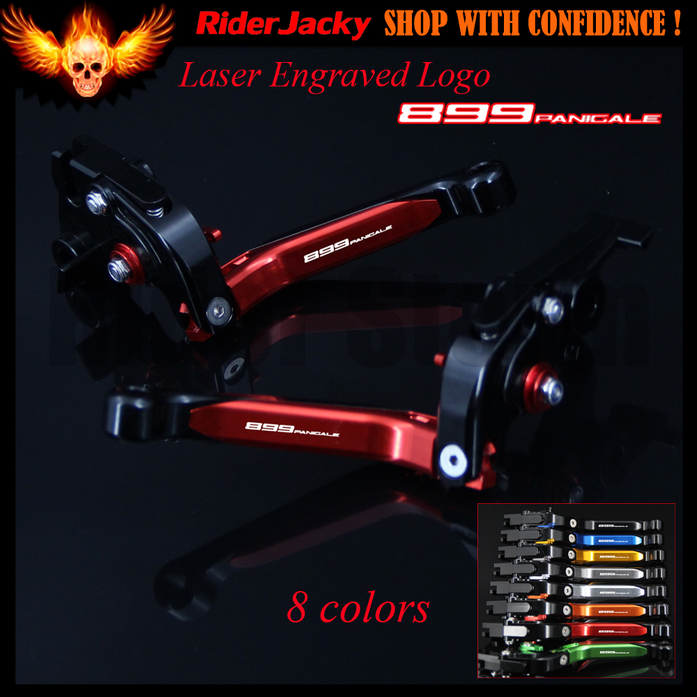 8 Color With Logo 899 Panigale Red+Black CNC Adjustable Folding Motorcycle Brake Clutch Levers For Ducati 899 Panigale 2014-2015 motorcycle tail tidy fender eliminator registration license plate holder bracket led light for ducati panigale 899 free shipping