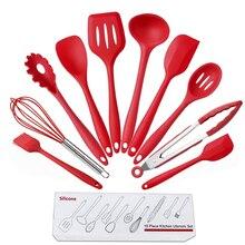 10 шт. антипригарные кухонные принадлежности силиконовые термостойкие кухонные принадлежности для приготовления пищи инструменты для приготовления Инструменты Наборы практичный и удобный