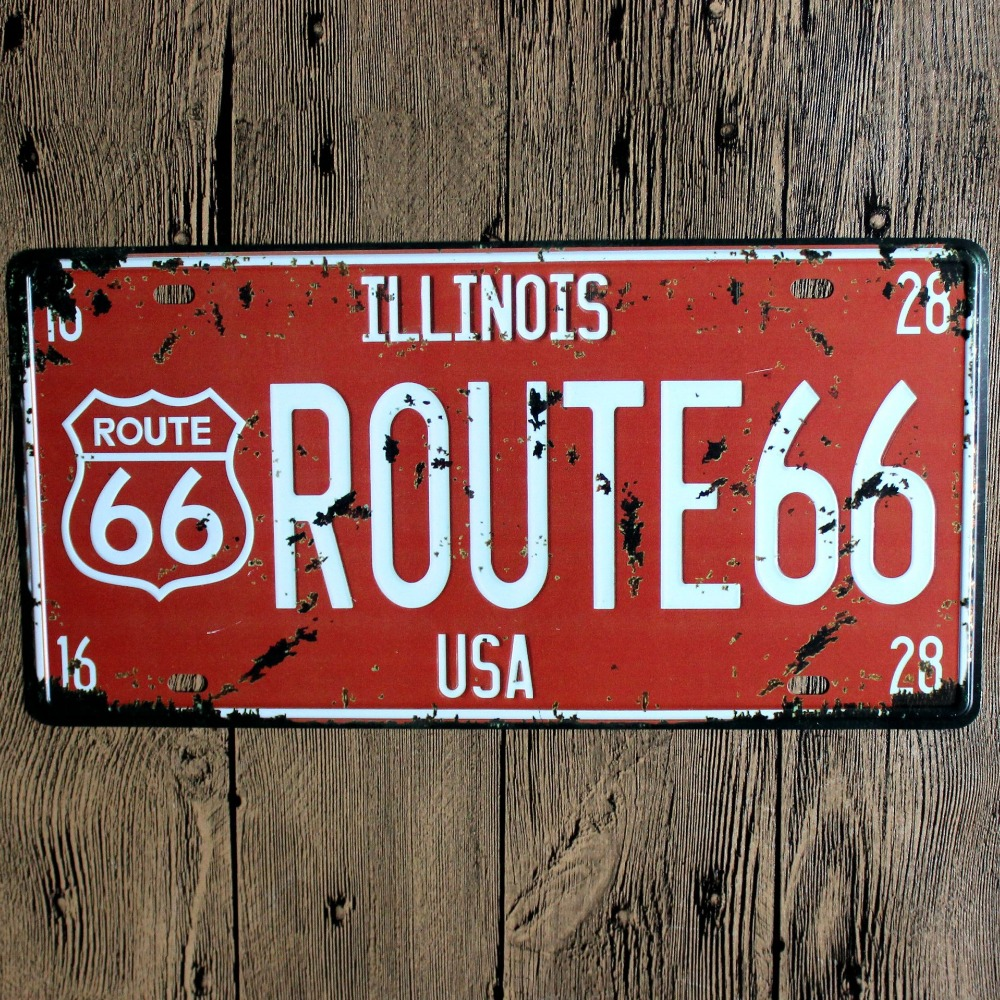 Vintage Iron Painting plaques & signs Wall Sticker Signage Hotel restaurant wall decorat ...