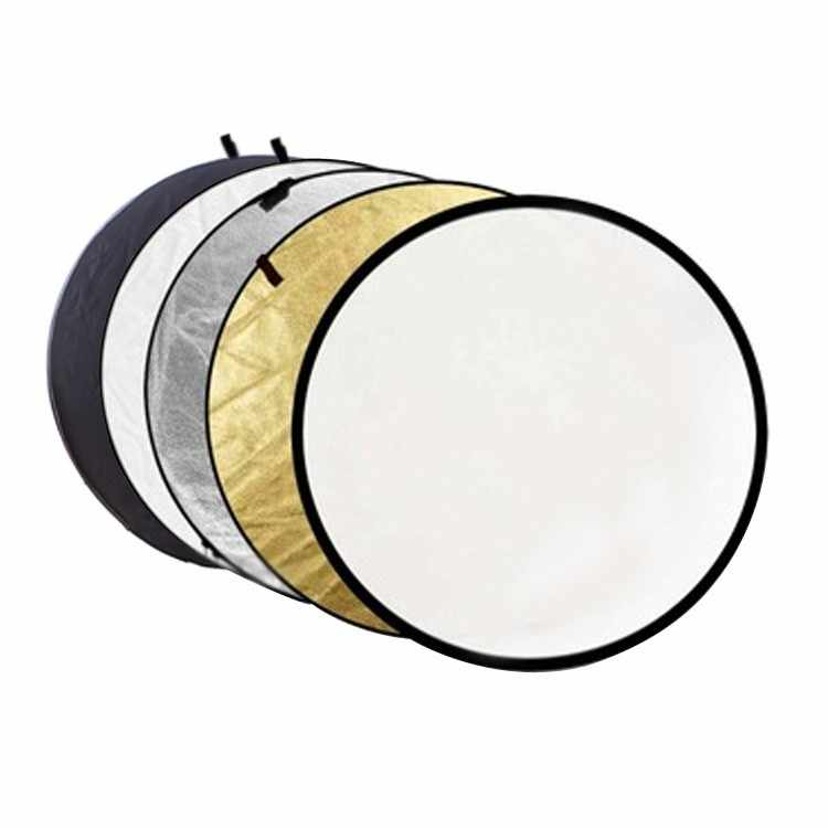 "31.5"" 80cm 5 in 1 Reflector Portable Collapsible Light Round Photography Reflector for Studio Multi Photo"