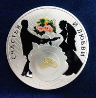 Wholesale Low price Niue Island Wedding GIFT LOVE COIN Silver Plated Commemorative new design silver coins both side coin