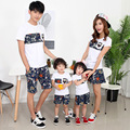 2017 family clothing Korean children summer cotton short sleeve t-shirt mother father baby tops Cheap Clothes China