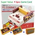Nova TV Vídeo Game Console FCompact Clássico Família TV Jogador Do Jogo jeux juegos + 3 pcs Cartões de Jogo Enviar Com Caixa de Varejo Frete Grátis