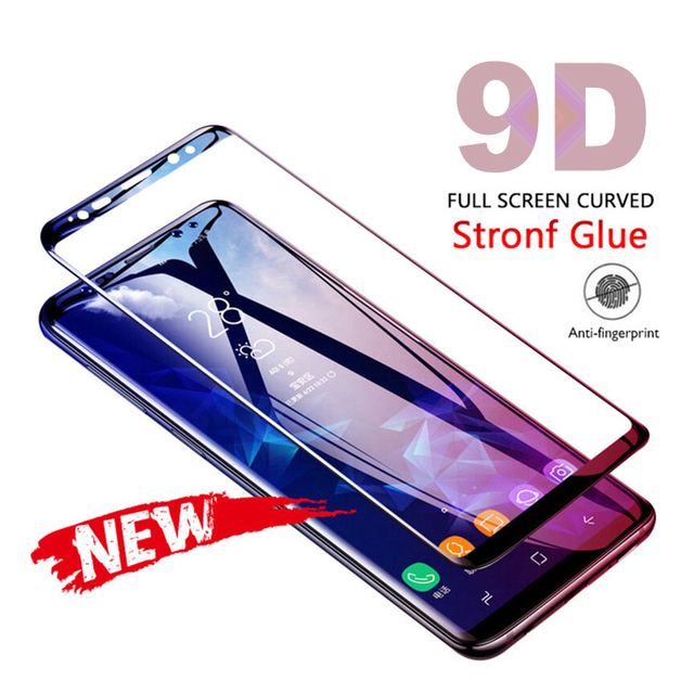 Full Tempered Glass Film For Samsung Galaxy S10 Lite Note 8 9 S9 S8 S10 Plus Curved Screen Protector For Samsung A6 A8 Plus 2018