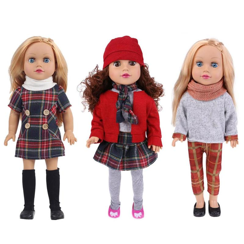 3 Style Vinyl Lovely Girls Simulation Lifelike Doll Pretend Play Stand Toys Childrens Gifts With beautiful Hair and Big Eyes