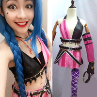 Jinx Cosplay Costume Lol Game Party Carnival Halloween Costumes For Women
