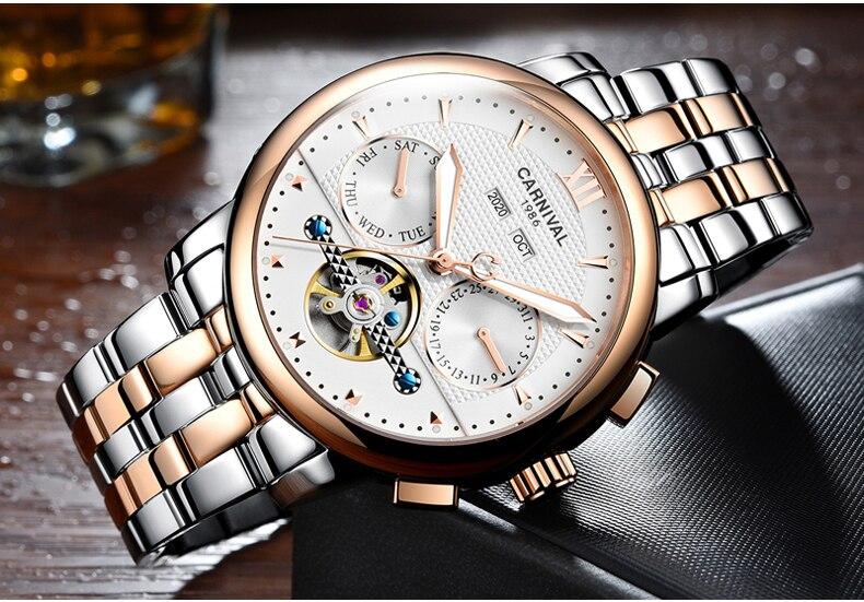 mecânica relógio de pulso masculino reloj hom