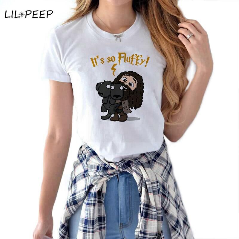 Women   T     Shirt   Streetwear Aesthetic Camiseta Mujer Cotton Vogue Harajuku Potter Ulzzang Summer Kawaii Clothes Movie 90S