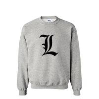 2015 New Arrivals Famous Cartoon Death Note L Fashion Leisure Sport Shirt Man Sportswear European Size