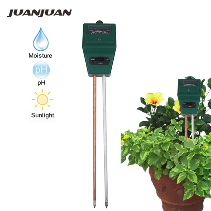 Hot Sales Flowers Kits 3 In 1 Plant Soil PH Test Tester Illuminance Analyzer Moisture Meter Light Plant Tool 20%Off