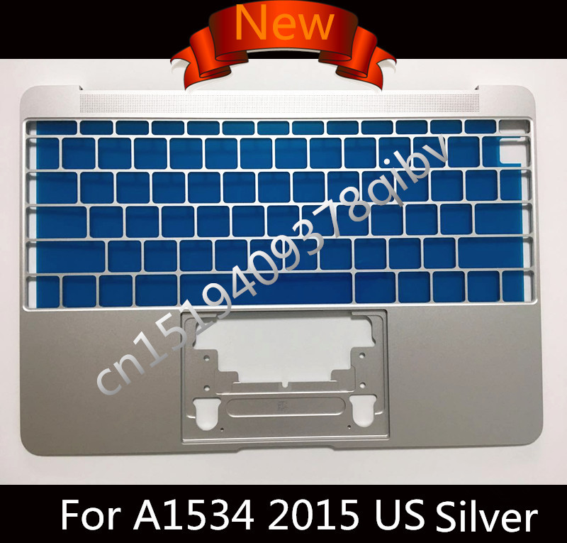 New Silver US Top case For Macbook Core M 12 A1534 Top Case MF865 topcase No keyboard 2015 2016 Year new for macbook pro a1286 us top case