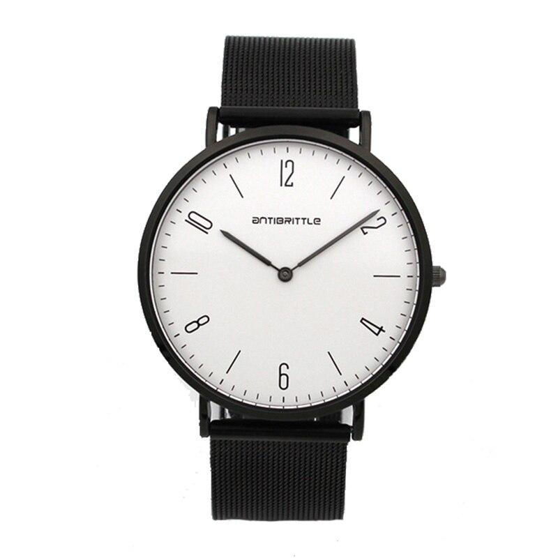 Quartz Black Luxury Minimalist Watch Women Super Thin Men Leather Stainless Steel Magnet Strap Wristwatch Hand Antibrittle 6mm dali spektor 2 walnut