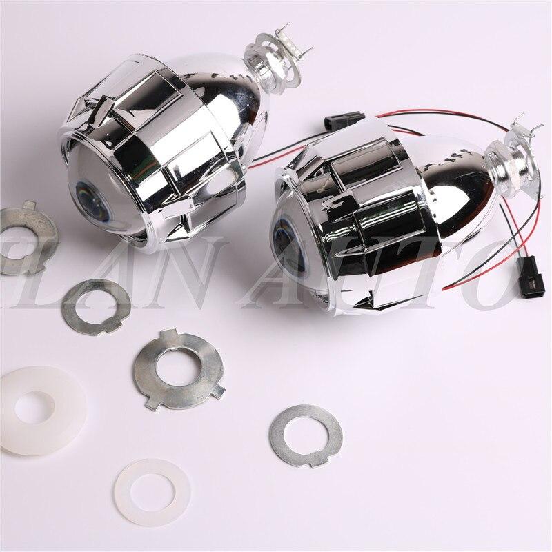 Car Styling 2.5 pouces WST HID Bi xénon Objectif Du Projecteur Night Light Lunettes H7 H4 Projecteur Lentilles, utiliser H1 Ampoules