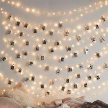 1-5 м медная проволока светодиодная гирлянда ночник праздничное освещение для гирлянды сказочное Рождественское дерево свадебное украшение для вечеринки