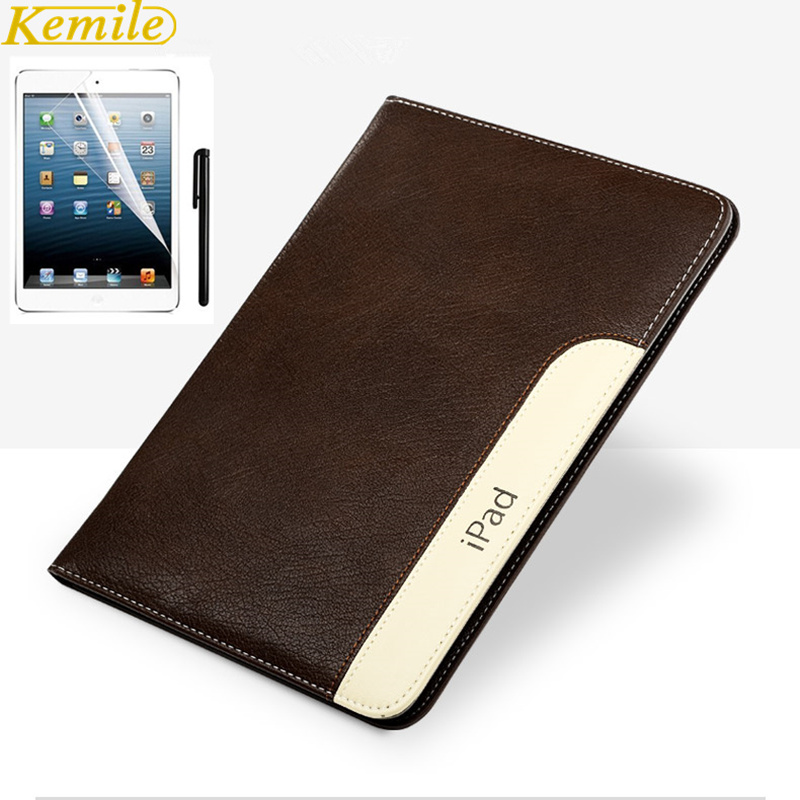 Luxury Automatic Wake-up Sleep Smart Cover Leather Case for iPad Air 2 Air1 Smart cover for iPad 6 5 with  Gift sd luxury stitching pu leather book case for ipad air 1 auto wake up function smart cover for ipad air1 ipad5 tablet film gift